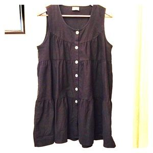 Black linen dress / tunic
